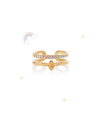 OLIVIA BURTON LONDON Rainbow Bee Ring GoldOBJAMR27 – Ring in Gold - Front view